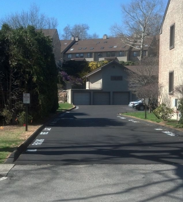 COmpleted Parking Lot Repair in Stamford