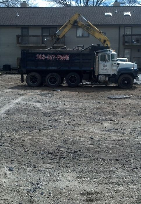 Grading A Parking Lot in Stamford