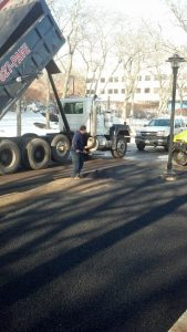 3-4-14 Stamford Electric Car Charger Paving