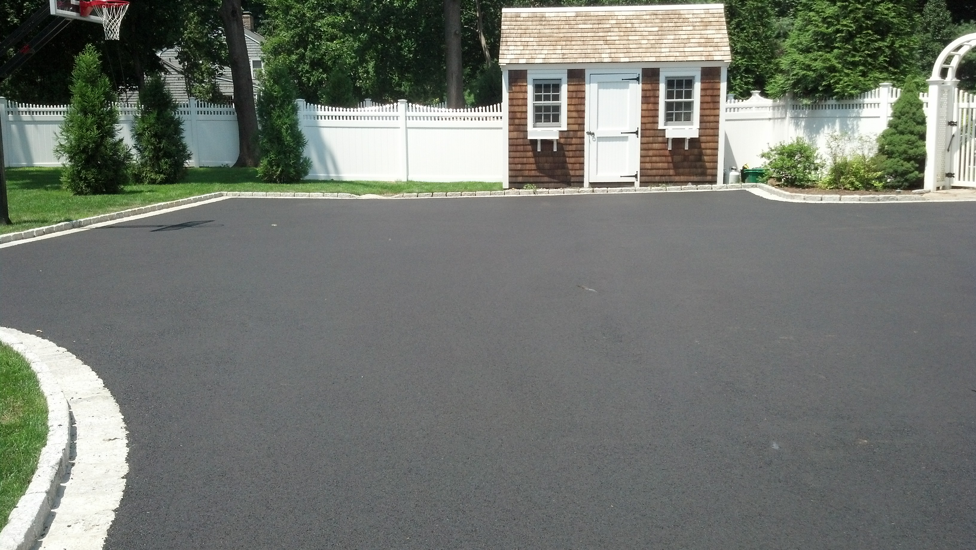 New Driveway For New Canaan Client Asphalt Paving