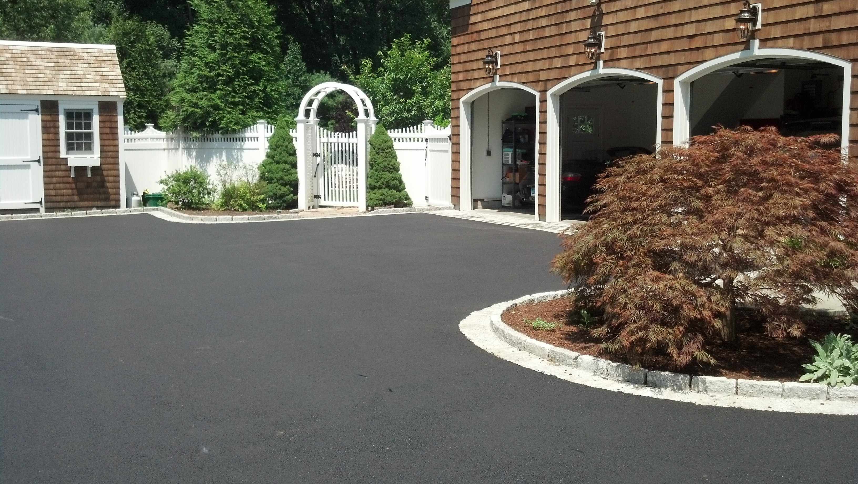 New Driveway for New Canaan Client Asphalt Paving pany Serving CT
