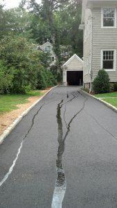 Darien driveway paving